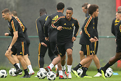 September 5, 2018 - Tubize, BELGIUM - Belgium's Youri Tielemans (C) pictured during a training session of Belgian national soccer team the Red Devils in Tubize, Wednesday 05 September 2018. The team is preparing for a friendly match against Scotland on 07 September and the UEFA Nations League match against Iceland on 11 September. BELGA PHOTO BRUNO FAHY (Credit Image: © Bruno Fahy/Belga via ZUMA Press)