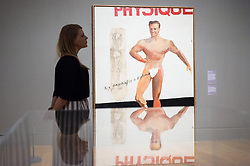 © Licensed to London News Pictures. 03/04/2017. Museum staff views a painting titled Life Painting for a Diploma by artist David Hockney showing as part of Tate Britain's Queer British Art exhibition. London, UK. Photo credit: Ray Tang/LNP