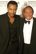 John Legend and Paul Anka at The 2008 Songwriters Hall of Fame Awards Induction Ceremony held at The Marriott Marquis Hotel on June 19, 2008 ..The Songwriters Hall of Fame celebrates songwriters, educates the public with regard to their achievements, and produces a spectrum of professional programs devoted to the development of new songwriting talent through workshops, showcases and scholarships. The sonwriters Hall of Fame was founded in 1969 by songwriter Johnny Mercer and publishers Abe Olman and Howie Richardson