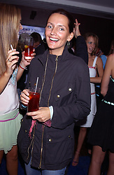 Model SAFFRON ALDRIDGE at a party to view the designs of Jessica Simon at the beginning of London Fashion Week held at The Electric Cinema, Portabello Road, London on 19th September 2004.<br /><br />NON EXCLUSIVE - WORLD RIGHTS
