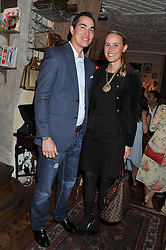 JONATHAN & SANDRA GOWEN at an afternoon tea party in aid of the Naked Heart Foundation held at Mari Vanna, Wellington Court, 116 Knightsbridge, London on 29th August 2012.