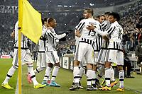 Esultanza giocatori Juventus dopo gol 1-0, goal celebration,<br /> Torino 27-01-2016, Juventus Stadium, Football Calcio 2015/2016 Coppa Italia, Juventus - Inter, Foto Filippo Alfero/Insidefoto