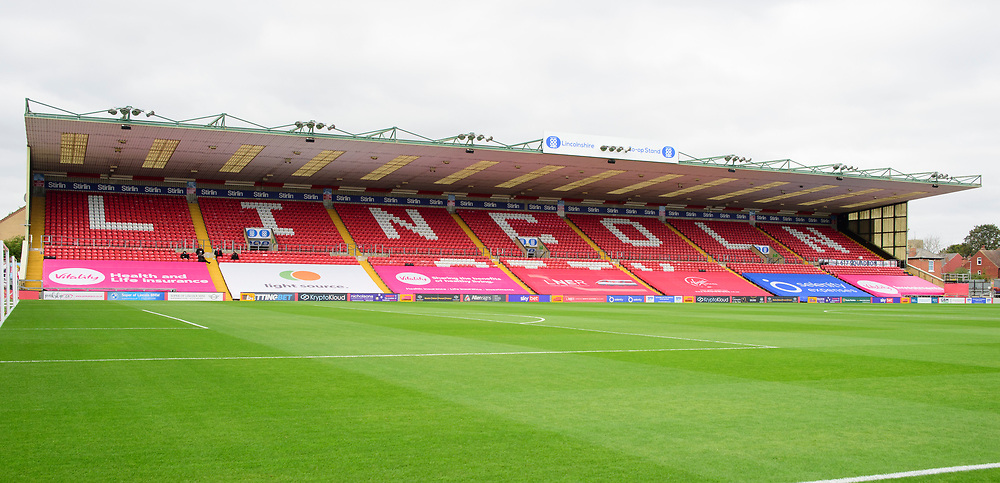 A general view of LNER Stadium, home of Lincoln City<br /> <br /> Photographer Andrew Vaughan/CameraSport<br /> <br /> The EFL Sky Bet League One - Lincoln City v Charlton Athletic - Sunday 27th September, 2020 - LNER Stadium - Lincoln<br /> <br /> World Copyright © 2020 CameraSport. All rights reserved. 43 Linden Ave. Countesthorpe. Leicester. England. LE8 5PG - Tel: +44 (0) 116 277 4147 - admin@camerasport.com - www.camerasport.com