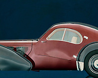 The Bugatti Type 57 was a Bugatti car. The car was built from 1934 to 1940 and had a 3.3-litre eight-in-line engine with two camshafts that was derived from the engine of the Bugatti 49. The car was designed by Jean Bugatti, the son of Ettore Bugatti.<br /> <br /> There were two versions of the type 57: the 57 and the 57S, with lowered chassis. There was also a version with compressor, called 57C (or 57SC). There were several coachwork available: among others the Ventoux, the Stelvio, the Atalante and the Atlantic (of which only a few were built in 1936). The design of the Atlantic was inspired by the experimental Aérolithe (1935). In 1937 and 1939 a Bugatti 57 won the Le Mans 24-hour race, both years with Jean-Pierre Wimille behind the wheel. –<br /> <br /> <br /> BUY THIS PRINT AT<br /> <br /> FINE ART AMERICA<br /> ENGLISH<br /> https://janke.pixels.com/featured/1-bugatti-phoenix-57-sc-atlantic-1938-jan-keteleer.html<br /> <br /> WADM / OH MY PRINTS<br /> DUTCH / FRENCH / GERMAN<br /> https://www.werkaandemuur.nl/nl/shopwerk/Bugatti-Phoenix-57-SC-Atlantic-1938/544587/134