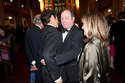 HELENA KENNEDY'S SON; JAMES NAUGHTIE; BARONESS HELENA KENNEDY, Man Booker prize 2011. Guildhall. London. 18 October 2011. <br /> <br />  , -DO NOT ARCHIVE-© Copyright Photograph by Dafydd Jones. 248 Clapham Rd. London SW9 0PZ. Tel 0207 820 0771. www.dafjones.com.