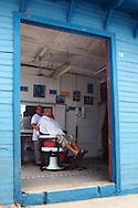 Barbershop in Gibara, Holguin, Cuba.