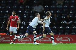Neil Kilkenny of Preston North End celebrates scoring to make it 1-0 - Mandatory byline: Dougie Allward/JMP - 07966386802 - 15/09/2015 - FOOTBALL - Deepdale Stadium -Preston,England - Bristol City v Preston North End - Sky Bet Championship