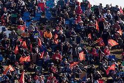 October 7, 2018 - Bathurst, NSW, U.S. - BATHURST, NSW - OCTOBER 07: The crowd at turn one at the Supercheap Auto Bathurst 1000 V8 Supercar Race at Mount Panorama Circuit in Bathurst, Australia. (Photo by Speed Media/Icon Sportswire) (Credit Image: © Speed Media/Icon SMI via ZUMA Press)