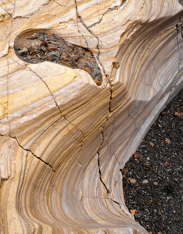 Eroded marble, Mosaic Canyon, Death Valley National Park, California, USA