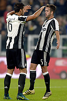 Esultanza Miralem Pjanic e Sami Khedira Juventus dopo gol 3-1, goal celebration,<br /> Torino 26-10-2016, Juventus Stadium, Football Calcio 2016/2017 Serie A, Juventus - Sampdoria, Foto Filippo Alfero/Insidefoto