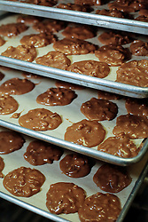 21 September 2015. New Orleans, Louisiana.<br /> Making Aunt Sally's Pralines.<br /> Photo©; Charlie Varley/varleypix.com