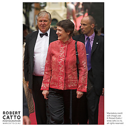 Producer Don Reynolds and Prime Minister Helen Clark at the premiere of the film River Queen in Wanganui, New Zealand.<br />