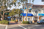 Downtown Laguna Beach Street Scene at Coast Highway and Park Ave