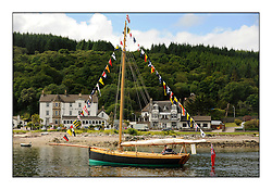 Day three of the Fife Regatta, Cruise up the Kyles of Bute to Tighnabruaich<br /> <br /> Ayrshire Lass, Paul Goss / Theo Rye, GBR, Gaff Cutter, Wm Fife 2nd, 1887<br /> * The William Fife designed Yachts return to the birthplace of these historic yachts, the Scotland's pre-eminent yacht designer and builder for the 4th Fife Regatta on the Clyde 28th June–5th July 2013<br /> <br /> More information is available on the website: www.fiferegatta.com