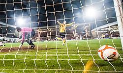 Falkirk's Blair Alston celebrates after scoring their goal..Dunfermline 0 v 1 Falkirk, 26/12/2012..©Michael Schofield.