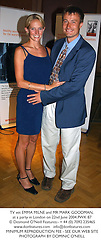 TV vet EMMA MILNE and MR MARK GOODMAN, at a party in London on 22nd June 2004.PWK 87