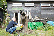 Furniture maker Adrian Swintead outside his Maulden Woods studio, Bedfordshire<br /> CREDIT: Vanessa Berberian for The Wall Street Journal<br /> GURU-SWINSTEAD
