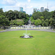 Reunification Palace (the former Presidential Palace) in downtown Ho Chi Minh City (Saigon), Vietnam. The palace was used as the command headquarters of South Vietnam during the Vietnam War.