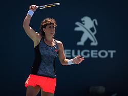 March 22, 2019 - Miami, FLORIDA, USA - Carla Suarez Navarro of Spain in action during the second-round at the 2019 Miami Open WTA Premier Mandatory tennis tournament (Credit Image: © AFP7 via ZUMA Wire)