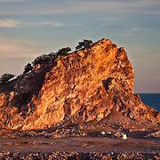 Rock outcropping at the entrance of Mazatlan's Port
