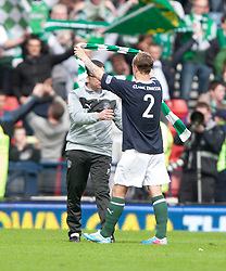 Hibernian's manager Pat Fenlon and Hibernian's Leigh Griffiths at the end..Hibernian 4 v 3 Falkirk, William Hill Scottish Cup Semi Final, Hampden Park..©Michael Schofield..