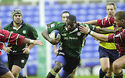 20/01/02 - Powergen  Cup - Quarter Final<br /> Madejski Stadium - Reading <br /> London Irish v Gloucester:<br /> Exiles Paul Sackey on the charge to the line.[Mandatory Credit:Peter SPURRIER/Intersport Images]