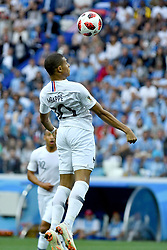 Kylian Mbappé in action during the World Cup round of 8 game between France and Uruguay on July 6, 2018 in Nizhny Novgorod, Russia. Photo by Lionel Hahn/ABACAPRESS.COM