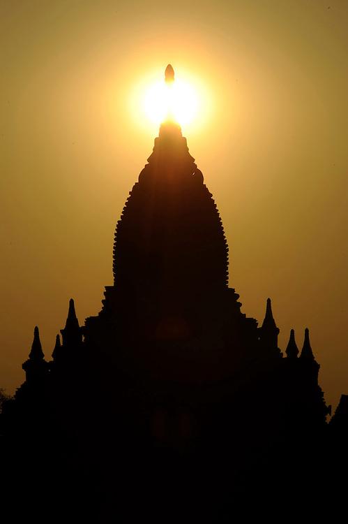Temple in Bagan Myanmar sunset