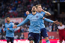 April 29, 2018 - Bronx, New York - BRONX, New York - Saturday, April 29, 2018: New York City FC takes on FC Dallas at home at Yankee Stadium during the 2018 MLS regular season. (Credit Image: © Mike Lawrence/ISIPhotos via ZUMA Wire)