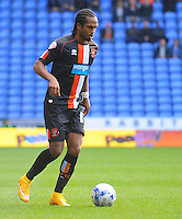 Blackpool's Nathan Delfouneso in action during todays match  <br /> <br /> Photographer Kevin Barnes/CameraSport<br /> <br /> Football - The Football League Sky Bet Championship - Reading v Blackpool - Saturday 25th October 2014 - Madejski Stadium - Reading <br /> <br /> © CameraSport - 43 Linden Ave. Countesthorpe. Leicester. England. LE8 5PG - Tel: +44 (0) 116 277 4147 - admin@camerasport.com - www.camerasport.com