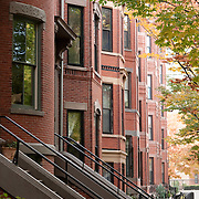 Boston's South End neighborhood is known for its rows of restored brick townhouses and trendy restaurants.