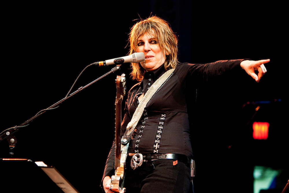 POUGHKEEPSIE, NY - OCTOBER 08: American singer-songwriter Lucinda Williams performs with her band at the Bardavon Opera House on October 08, 2009 in Poughkeepsie, New York. (PHOTO CREDIT: Eric M. Townsend)