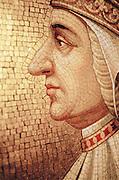 Mosaic portrait of a man, Venice, Italy