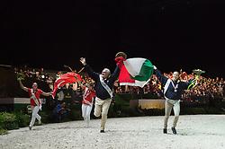 Anna Cavallaro, (ITA), Nelson Vidoni - Individuals Women Final Vaulting - Alltech FEI World Equestrian Games™ 2014 - Normandy, France.<br /> © Hippo Foto Team - Jon Stroud<br /> 05/09/2014