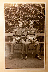 Pic of David's dad, James Buchanan McAllister, on left, serving in the 51st Highlanders..COLLECT PICS from the half-Scottish Prime Minister David McAllister of Lower Saxony..©Michael Schofield.