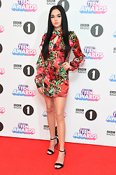 Maggie Lindemann attending the BBC Radio 1 Teen Wards, at Wembley Arena, London. Picture date: Sunday October 22nd, 2017. Photo credit should read: Matt Crossick/ EMPICS Entertainment.