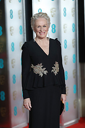 Glenn Close attending the after show party for the EE British Academy Film Awards at the Grosvenor House Hotel in central London.