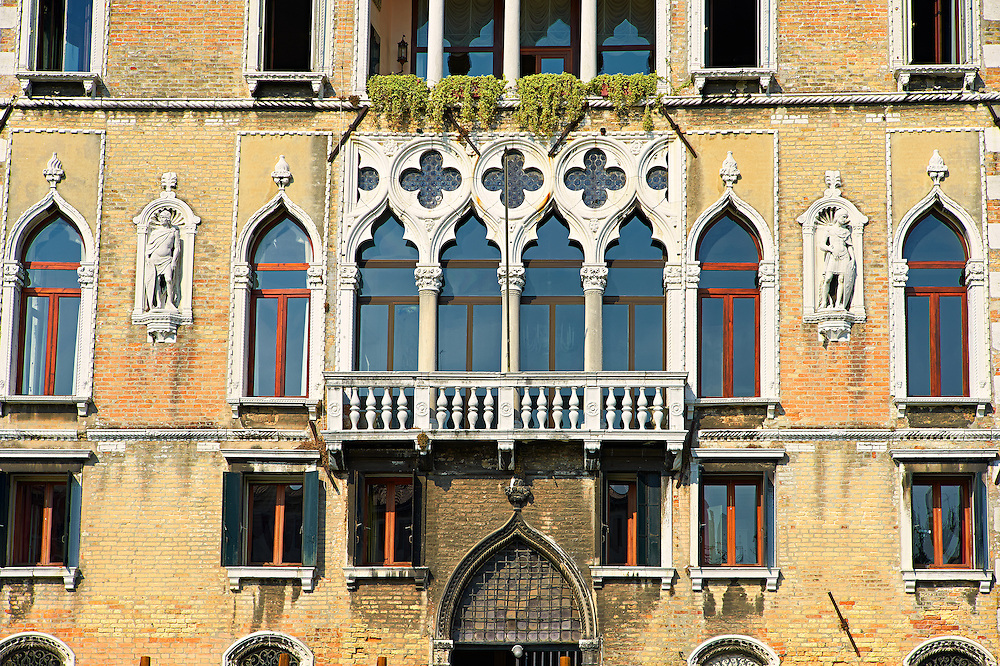 Venetian Gothic Palaces on the Grand Canal Venice