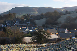 © Licensed to London News Pictures. 22/01/2021. Builth Wells, Powys, Wales, UK. Frosty morning in Builth Wells in Powys, UK after temperatures plummeted to zero deg C last night. Photo credit: Graham M. Lawrence/LNP