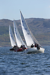 The Clyde Cruising Club's Scottish Series held on Loch Fyne by Tarbert. Day 2 racing in a perfect southerly<br /> <br /> Sonata, Fleet , GBR8304N, Jazz, Neil Manderson, Helensburgh SC