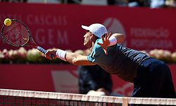 LISBON, May 4, 2018  South Africa's Kevin Anderson returns the ball during second round match of Estoril Open Tennis tournament against Greece's Stefanos Tsitsipas in Cascais, near Lisbon, Portugal, May 3, 2018. (Credit Image: © Zhang Liyun/Xinhua via ZUMA Wire)