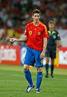 Photo: Glyn Thomas.<br />Spain v Tunisia. FIFA World Cup 2006. 19/06/2006.<br /> Spain's Fernando Torres.