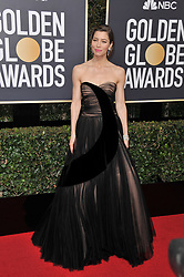 Jessica Biel  at the 75th Golden Globe Awards held at the Beverly Hilton in Beverly Hills, CA on January 7, 2018.<br /><br />(Photo by Sthanlee Mirador)