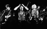U2 - , Larry Mullen, Bono, The Edgeand Adam Clayton at a rehearsal session at Shepperton Studios - 1982