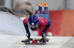 Great Britain's Laura Deas during Womens Skeleton practice on day three of the PyeongChang 2018 Winter Olympic Games in South Korea.