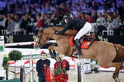 Cordon Pilar, (ESP), Gribouille du Lys <br /> Longines FEI World Cup presented by Landrover<br /> Vlaanderen Kerstjumping - Memorial Eric Wauters - <br /> Mechelen 2015<br /> © Hippo Foto - Dirk Caremans<br /> 30/12/15