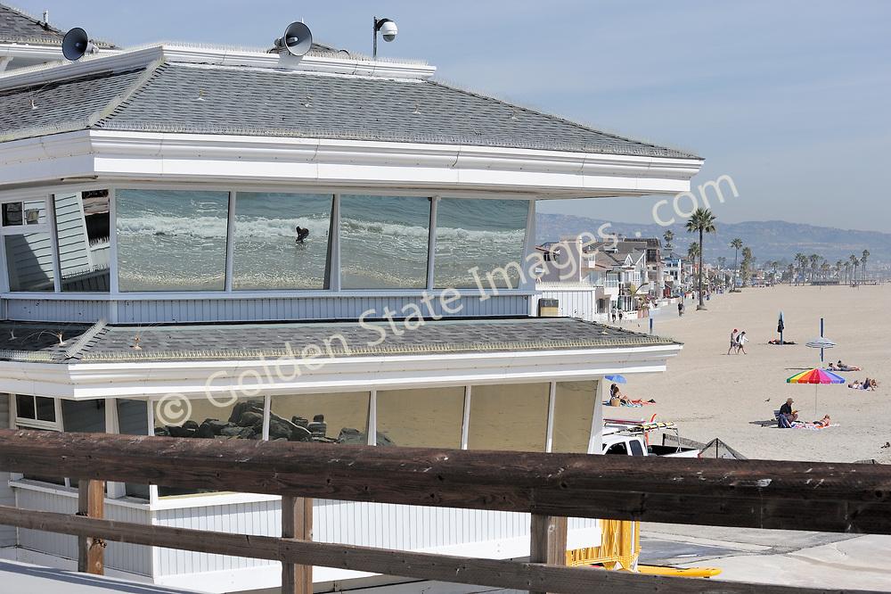 Newport Beach Pier Lifeguard Station