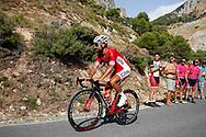 Nacer Bouhanni (FRA - Cofidis) during the UCI World Tour, Tour of Spain (Vuelta) 2018, Stage 4, Velez Malaga - Alfacar Sierra de la Alfaguara 161,4 km in Spain, on August 28th, 2018 - Photo Luca Bettini / BettiniPhoto / ProSportsImages / DPPI