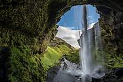 Kvernufoss is near the well known Skogafoss waterfall.