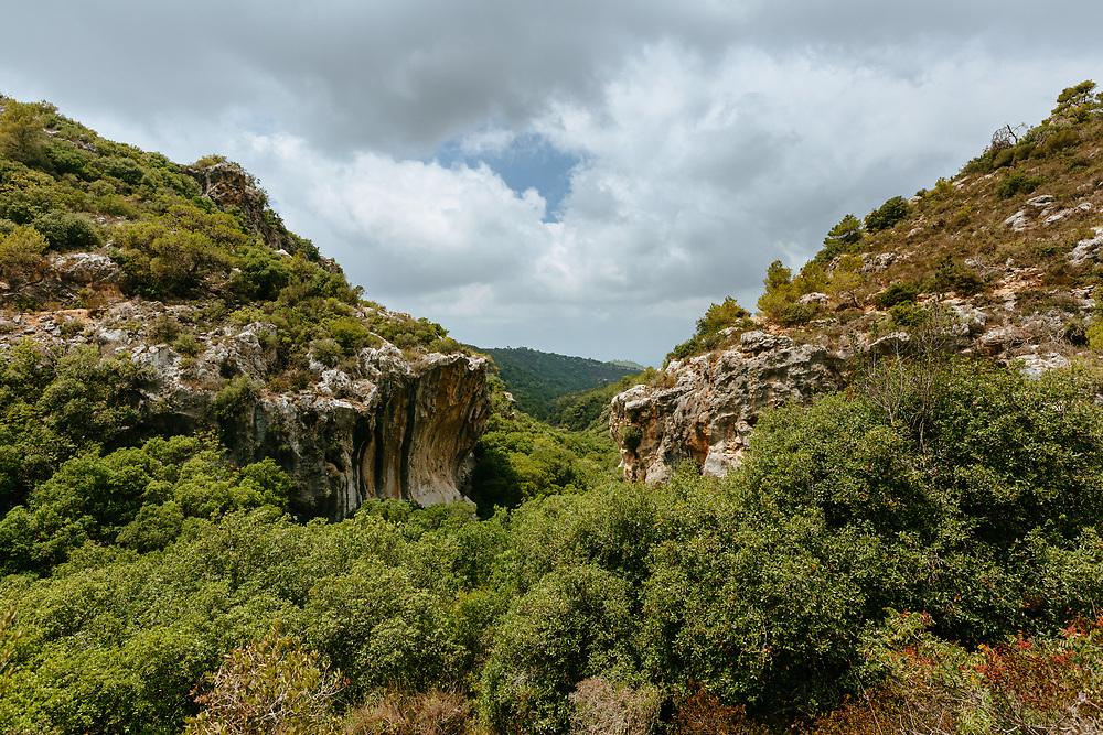 Landscape at Mount Carmel National Park, also called 'Little Switzerland' in northern Israel